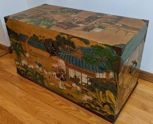 Vintage Hand-painted  Chinese trunk