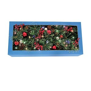 "J & J Seasonal CHL-5PTF7-612 Color Change Christmas Garland, Green, 12"" X 6'"