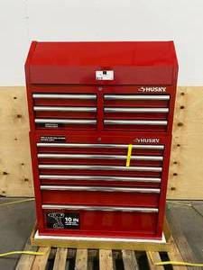 HUSKY 36 in. 12-Drawer Tool Chest and Cabinet combo in Gloss Red