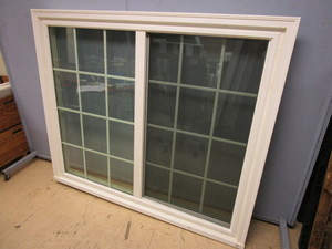 "LINDSAY SLIDER WINDOW W/ GRIDS - NEW, 61"" x 51"""