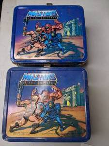 Pair of Masters of the Universe Collectible Vintage Lunch Boxes