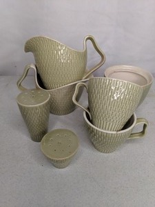 Vintage Red Wing Pottery Drinkware Set