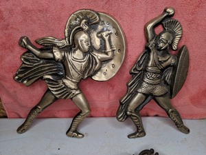 Fighting Brass Figurines