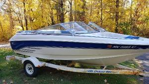1994 Larson 175 SEI Runabout Open Bow Boat With Spartan Trailer