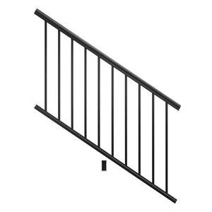Fiberon 6' Black Aluminum Deck Stair Railing Kit, AL STR PK 72x36 BL - NEW!