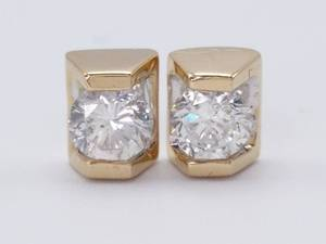 Splendid ~.80 Carat Diamond Stud Estate Earrings in 14k Yellow Gold; $3150 Retail