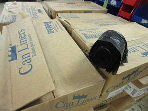 "CASES OF CAN LINERS, SIZE 22"" x 24"", FITTING UP TO 7-10 GALLON - NEW"