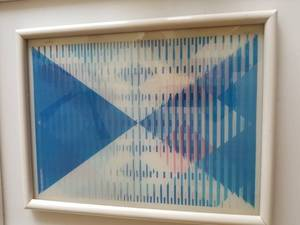 "Yaacov Agam Modern Optical Hologram Fine Art; Signed - ""Infinite Reach"""