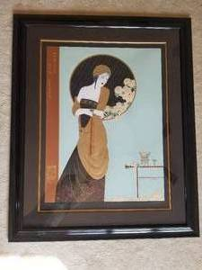 "Stunning Chinese Fine Art Serigraph by Lillian Shao; Signed- ""Chrysanthemum Song"""