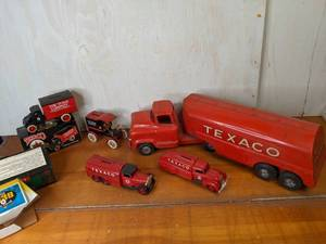 Lot of Vintage Texaco Toy Trucks
