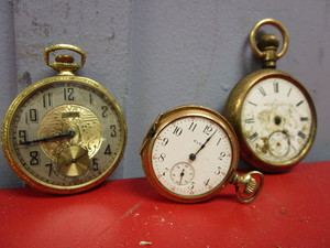 VINTAGE ELGIN POCKET WATCHES, 1896, 1907, 1925 YEARS