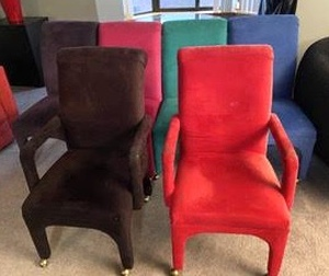 Set of Fantastic Bright Upholstered Chairs