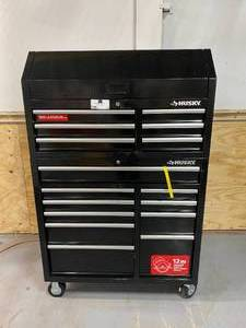 HUSKY 41 in. 16-Drawer Tool Chest and Cabinet Set