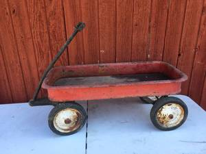 Vintage Large Red Wagon