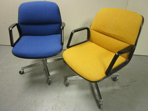 OFFICE CHAIRS, ADJUSTABLE, WITH CASTERS