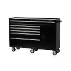 61 in. W x 18 in. D x 6-Drawer Tool Chest Rolling Cabinet in Black  Husky never used