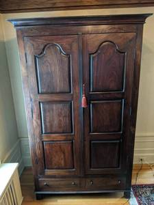 Extra-large Super Stately Wood Antique Armoire