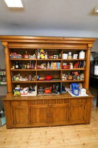 Extra-large Mexican Pine Ralph Lauren Kitchen Buffet and Hutch