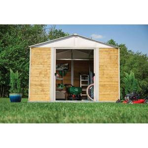 ARROW 10FTx12FT IRONWOOD STEEL HYBRID SHED KIT GALVANIZED IN CREAM!!! SEE PICS!