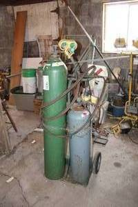 Oxygen-Acetylene Welding Tank Set with Cart