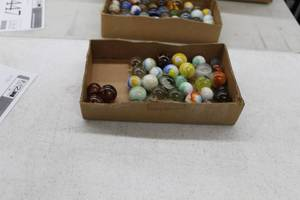 Lot of (1 Box) Vintage Player Marbles