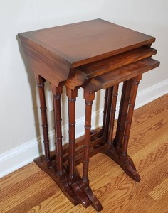 Set of Beautiful Mahogany Nesting Tables
