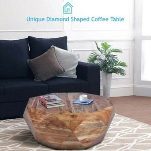 Diamond Shaped Coffee Table Made From Acacia Wood Modern Living Room Furniture in good conditions