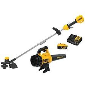 20V MAX Cordless Lithium-Ion String Trimmer/Blower Combo Kit (2-Tool) with (1) 4.0Ah Battery Pack and Charger Included by DEWALT in good condition