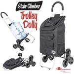 Stair Climber Trolley Dolly, Black Shopping Grocery Foldable Cart Condo Apartment