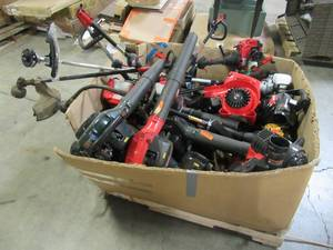 WHOLESALE MIXED PALLET OF LAWN TRIMMERS, BLOWERS AND PARTS!