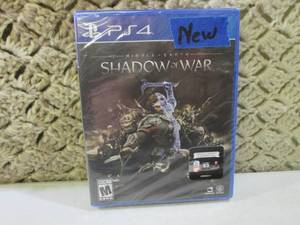 PS4 Shadow of War Game New Unopened...
