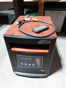 Eden Pure Electric Heater With Remote-Works