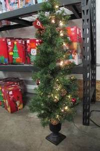Celebrations Home 4 Ft. Potted Douglas Fir Prelit 35 Clear Light Artificial Tree