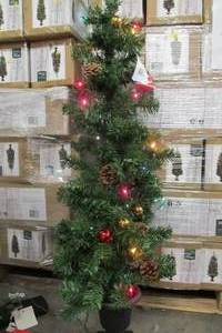 CELEBRATIONS TDFPT4ORN01A PRELIT DOUGLAS FIR POTTED CHRISTMAS TREE, 4' H