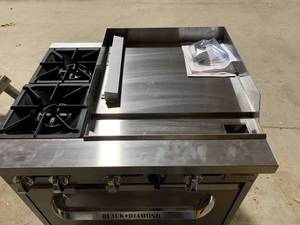 New Admiral Craft Black Diamond Stainless Range/Griddle