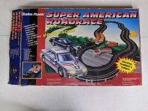 Vintage 1980s Radio Shack Super American Roadrace Racing Track - In Original Packaging