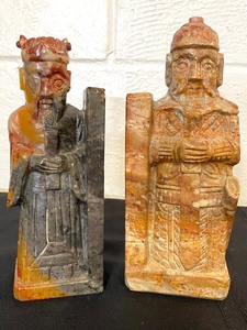 Two Decorative Marble and Soapstone Figurines