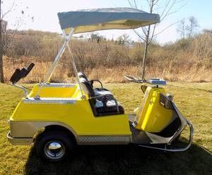 American Classic - 1970 Harley Davidson Gas-Powered Golf Cart (used, restored, excellent condition)