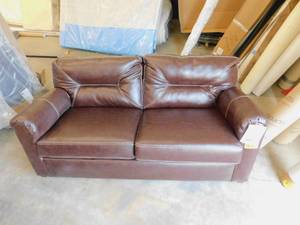 RV Brown Leather Thomasville Couch