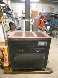 Sears Shop Wood Stove Circulator Heater with Piping