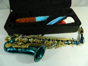 Slade Blue Alto Saxophone with Case