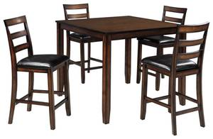 Signature Design By Ashley Coviar Counter Height Dining Room Table and Bar Stools (5 Piece Set).
