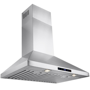 AKDY 30 in. Convertible Kitchen Wall Mount Range Hood in Stainless Steel with Touch Control