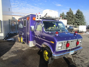 PURPLE AMBULANCE WITH ENDLESS POSSIBILITIES