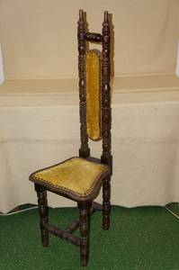 Antique Jacobean Style High Back Chair