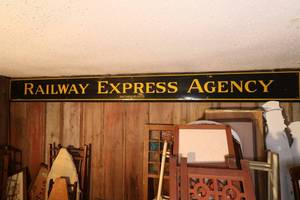 Railway Express Agency Antique Porcelain Sign
