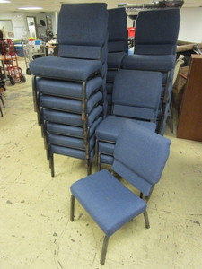 CONFERENCE CHAIRS, UPHOLSTERED, STACKABLE