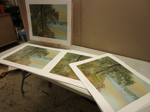 """MINNEAPOLIS-LAKE HARRIET"" BULK LTD ED. PRINTS SIGNED, NUMBERED, BY ARTIST WAYNE MEINEKE"