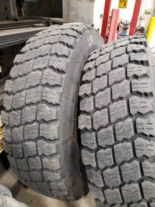 4 Used Road Grader Tires