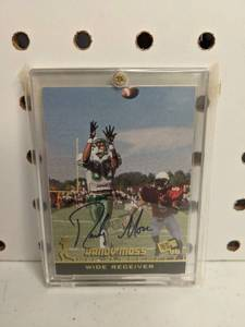 Randy Moss Autographed 1998 Press Pass Marshall Football Card